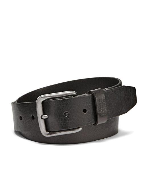 Fossil - Black Brody Leather Belt for Men - Lyst