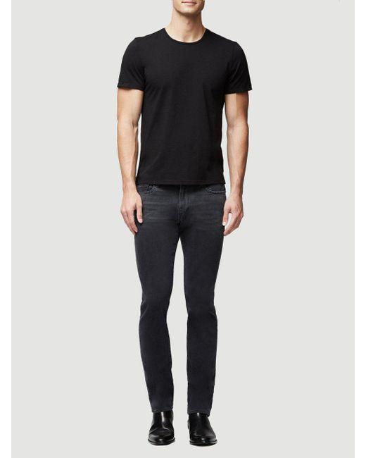 Lyst - Frame Jersey Short Sleeve Crew Neck in Black for Men - Save 30%