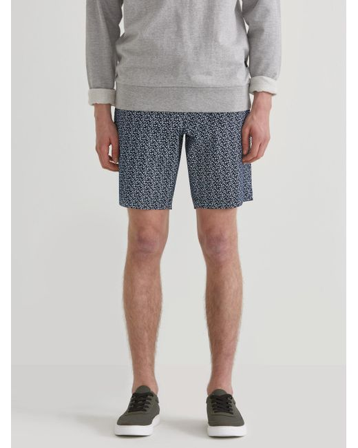 Frank And Oak - Blue The Newport Floral Print Twill Chino Short In Navy Blazer/white for Men - Lyst