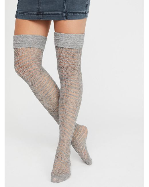 Free People | Multicolor Outshine Over-the-knee Sock | Lyst