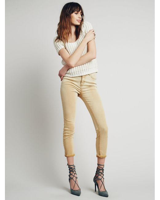 Free People | Natural High Rise Roller Skinny | Lyst