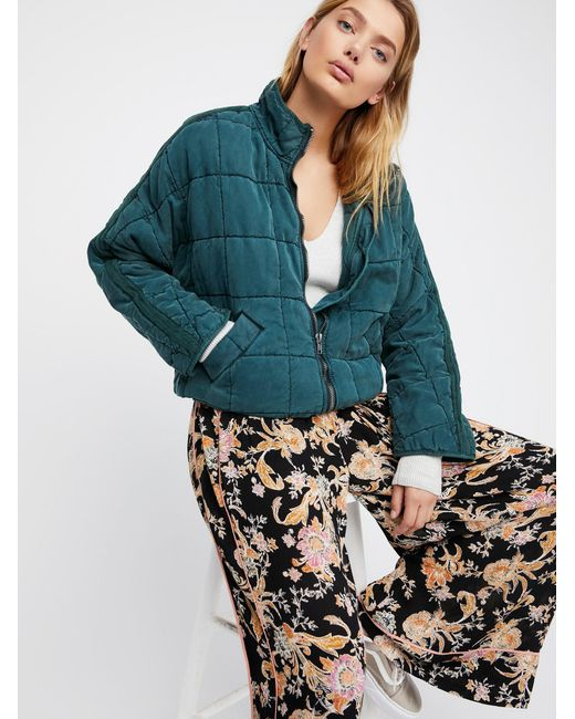 Free People | Blue Dolman Quilted Jacket | Lyst