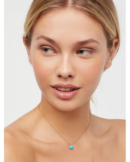 Free People - Brown Meaningful Stone Necklace - Lyst