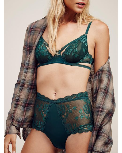 Free People - Blue Dream Of Me High Waisted Undie Dream Of Me Underwire Bra - Lyst