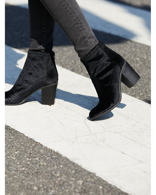 Free People | Black Shoes Boots Ankle Boots Vegan Ringmaster Boot | Lyst