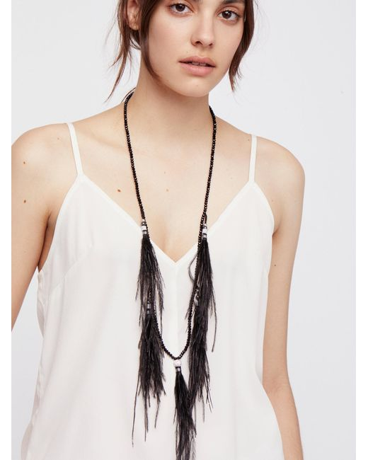 Free People | Black Dusting Feathers Collar | Lyst