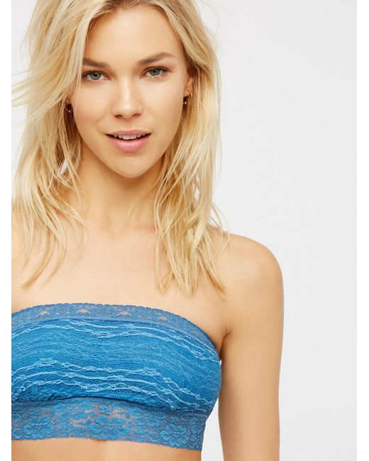 Free People | Blue Lace Trim Bandeau | Lyst