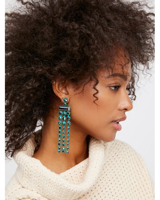 Free People | Brown Palmdale Color Crystal Earrings | Lyst