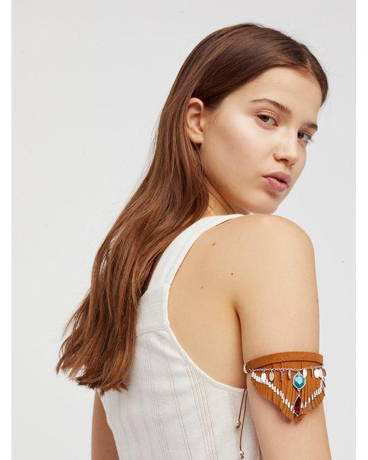 Free People - Brown Sierra Faux Suede Armband - Lyst