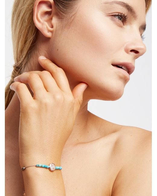 Free People   Natural Libi Stone Bracelet   Lyst