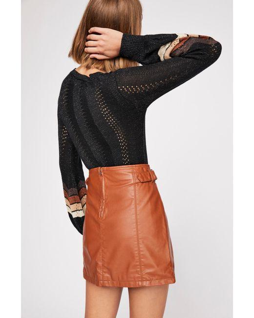 bf39cabdd Free People - Multicolor Charli Vegan A-line Skirt - Lyst ...