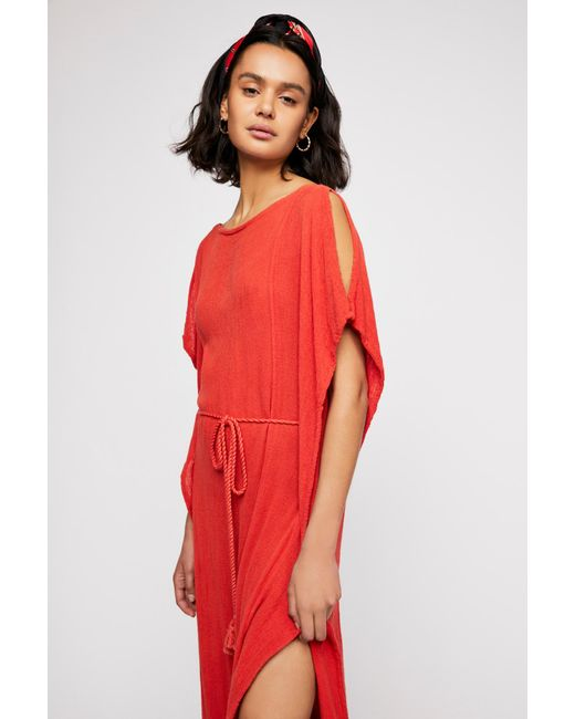 Free People - Red Physical Graffiti Maxi Kaftan By Jen's Pirate Booty - Lyst