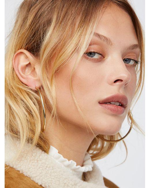 Free People - Metallic Essential Tube Hoop Earrings - Lyst
