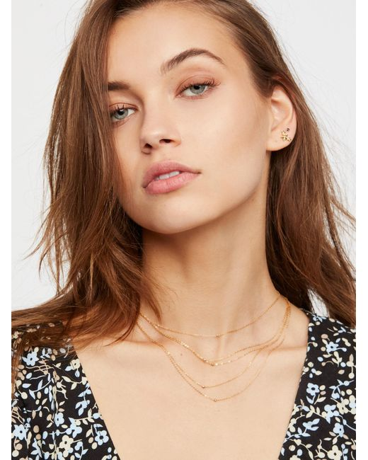 Free People | Multicolor Tyche Delicate 5 Tier Necklace | Lyst