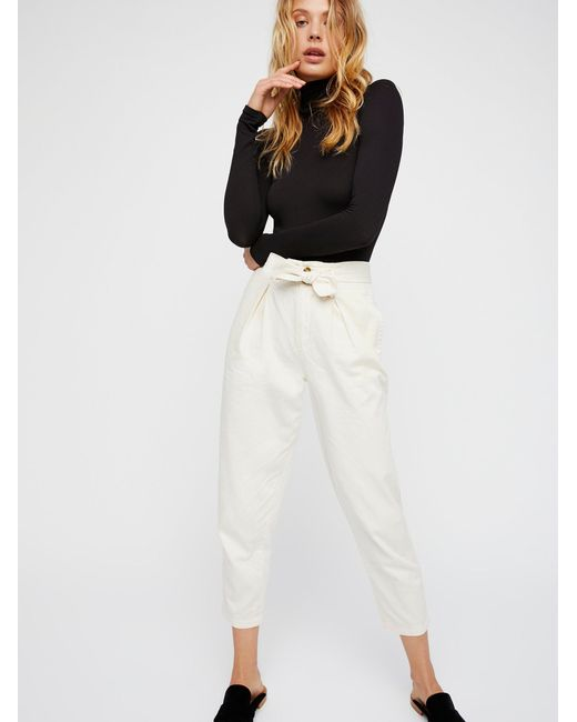 Free People - Black High Waisted '90s Peg Pant - Lyst