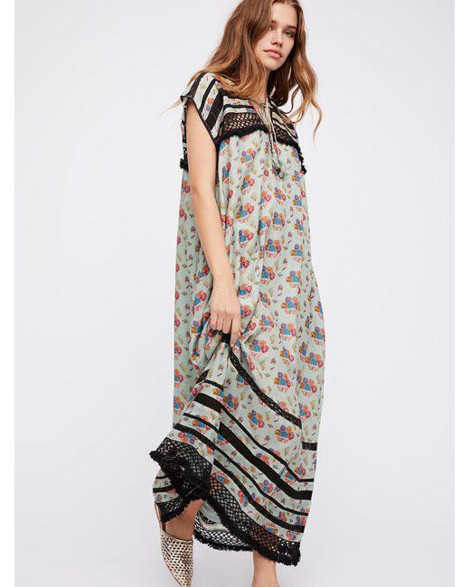 Free People   Gray Clothes Dresses Maxi Dresses Sabina Boho Dress   Lyst