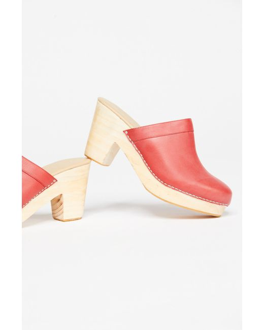 Free People - Red Highland Park Clog By Fp Collection - Lyst