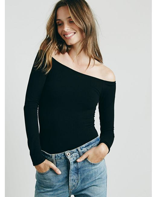 Free People | Black Off -the-shoulder Solid Top | Lyst