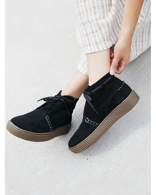 Free People | Black Aiden Sneaker Boot | Lyst