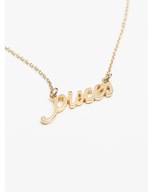 Free People | Metallic Star Sign Necklace | Lyst