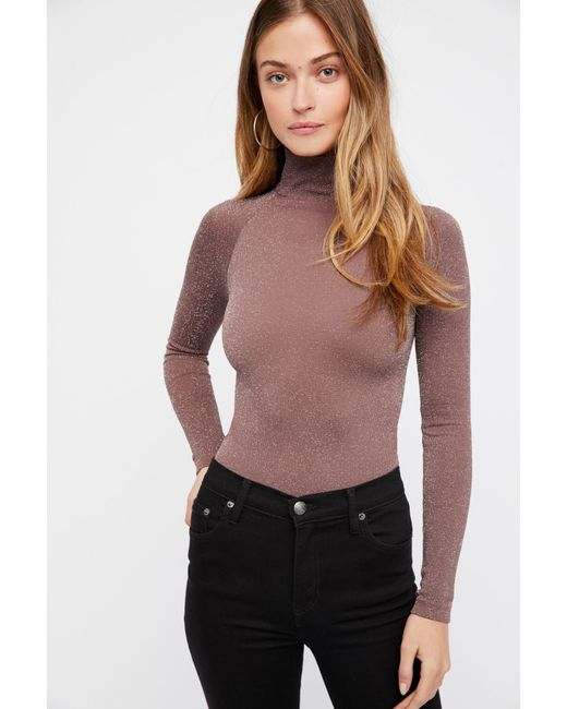 ... Free People - Multicolor Seamless Turtleneck Bodysuit By Intimately -  Lyst ... bd2c61377