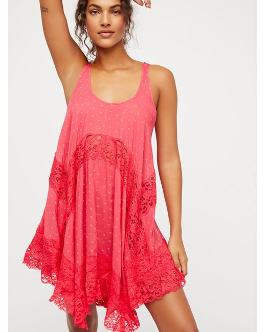 Free People - Pink She Swings Slip - Lyst