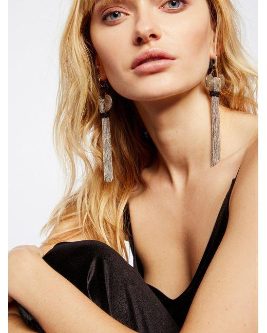 Free People | Black Saint Rosa Fringe Earrings | Lyst
