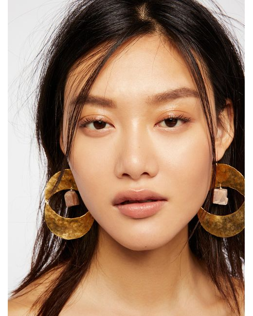 Free People | Brown Rising Sun Turquoise Earrings | Lyst