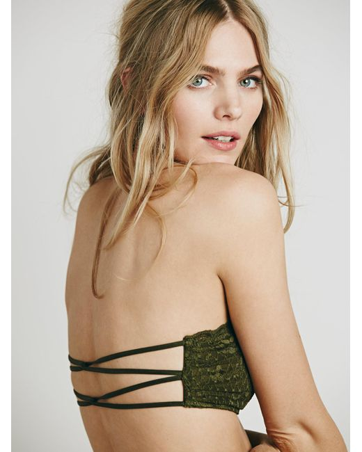 Free People | Green Essential Lace Bandeau | Lyst