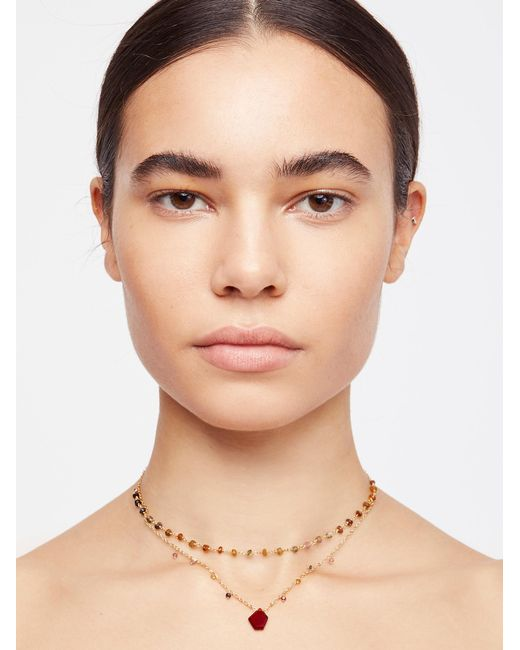 Free People - Multicolor Serefina Delicate Healing Necklace - Lyst