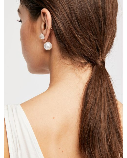 Free People - Multicolor Raw Stone Double Sided Stud Earrings - Lyst