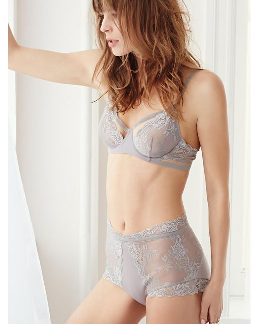 Free People   Blue Dream Of Me High Waisted Undie Dream Of Me Underwire Bra   Lyst