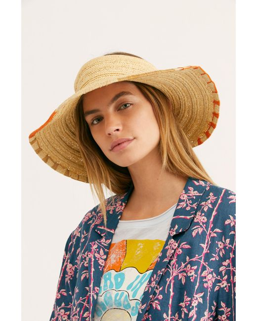 8ca1d4b01c9 ... Free People - Natural Tulum Roll Up Straw Visor - Lyst ...
