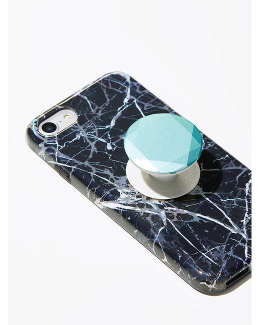 Free People   Blue Metal Pop Socket Phone Mount   Lyst