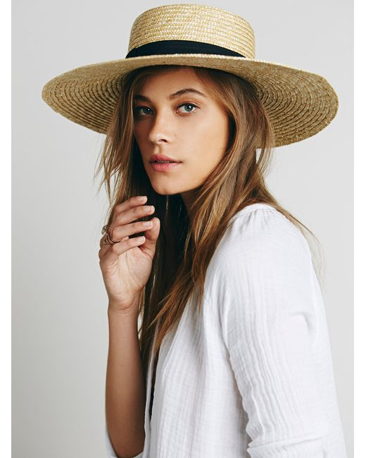 Free People - Natural Spencer Wide Brim Boater - Lyst