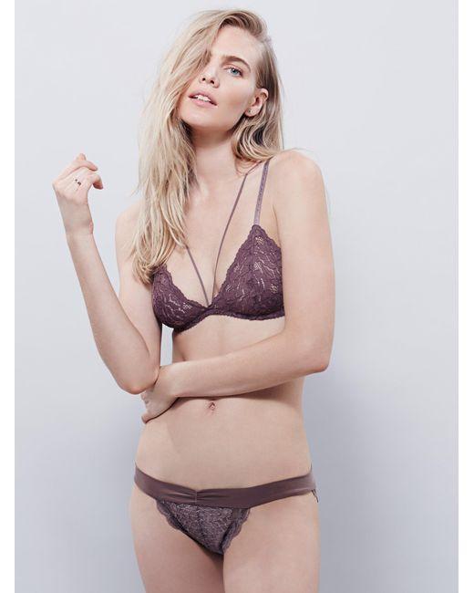Free People - Brown Essential Lace Bikini - Lyst