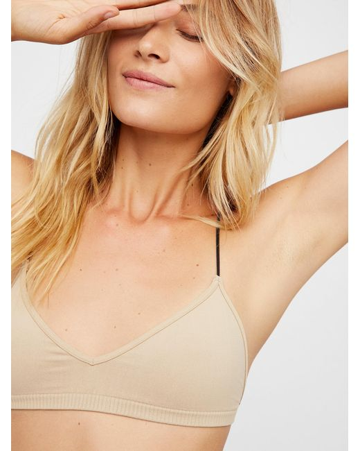 Free People   Natural Skinny Strap Bralette   Lyst