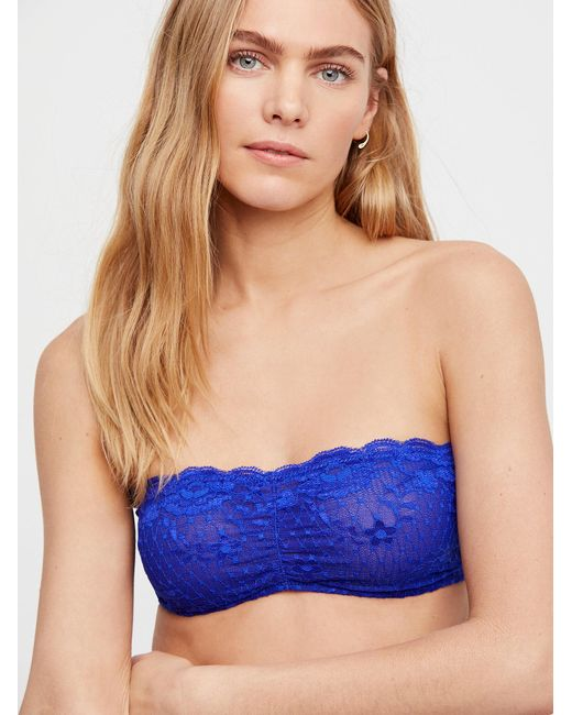 Free People - Blue Essential Lace Bandeau By Intimately - Lyst