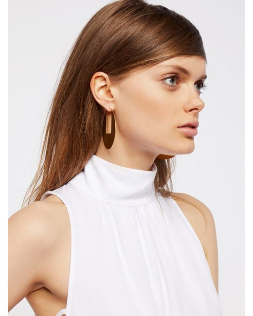 Free People | Multicolor Flat Record Hoops | Lyst