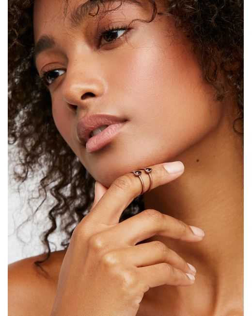 Free People   Brown Raw Stone Stack Ring   Lyst