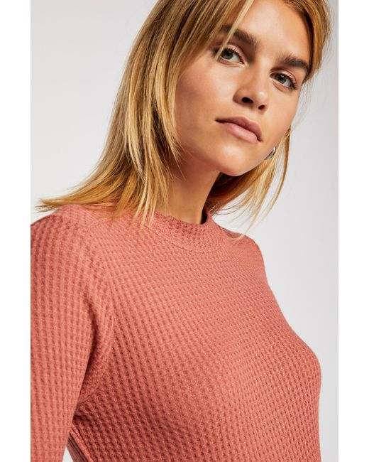 Free People - Brown So Cropped Thermal By Intimately - Lyst
