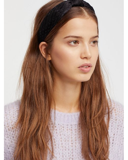 Free People | Black Nothing But Net Headband | Lyst