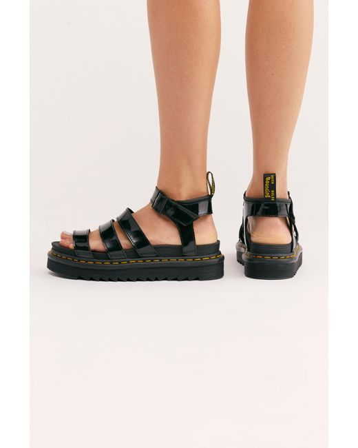 a69d89e6181 ... Free People - Black Blaire Flatform Sandal By Dr. Martens - Lyst ...
