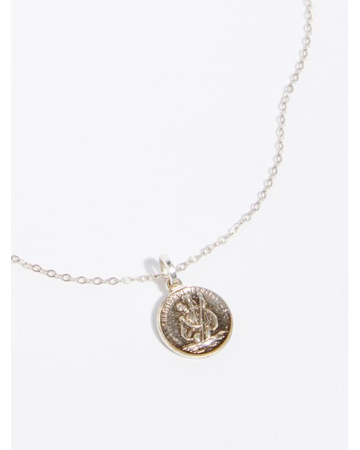 Free People - Metallic St. Christopher Necklace - Lyst