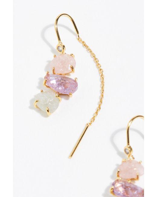Free People Pink Tai Opal Threader Earrings By Jewelry Lyst