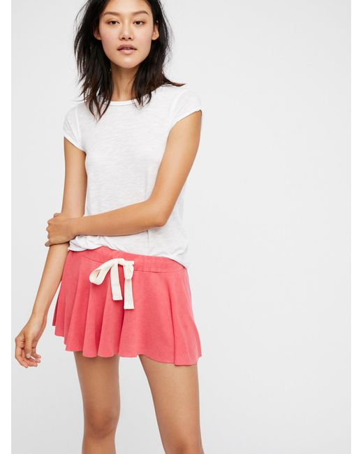 Free People | Red Intimates Bottoms Shorts Legs For Days Shortie | Lyst
