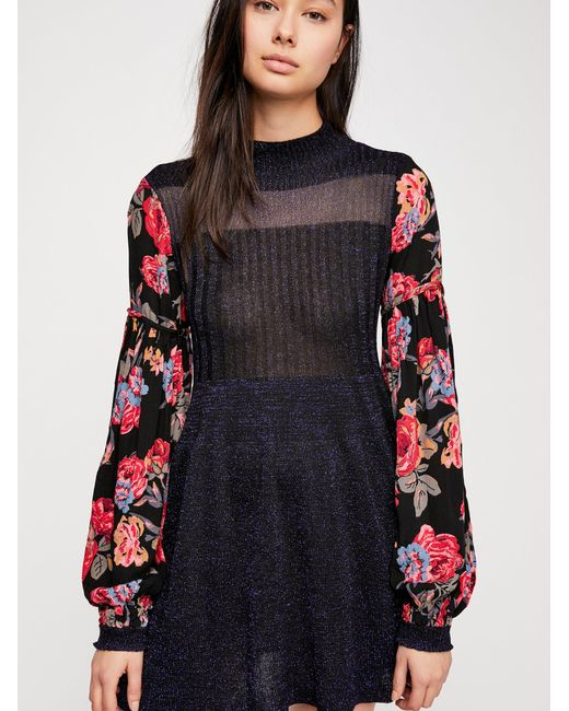 Free People - Black Rose And Shine Jumper Dress - Lyst