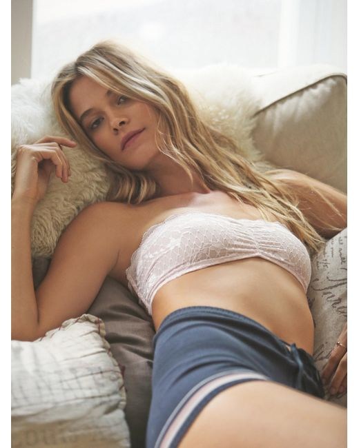 Free People | Pink Essential Lace Bandeau | Lyst