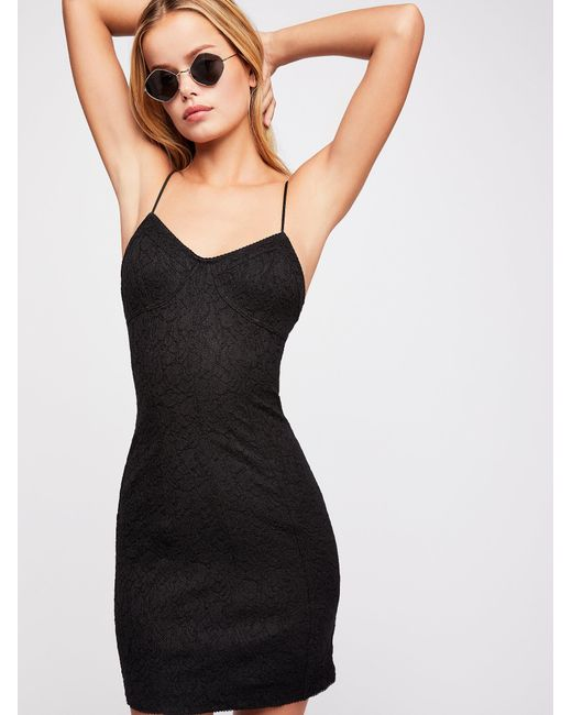 Free People - Black Light Me Up Slip - Lyst
