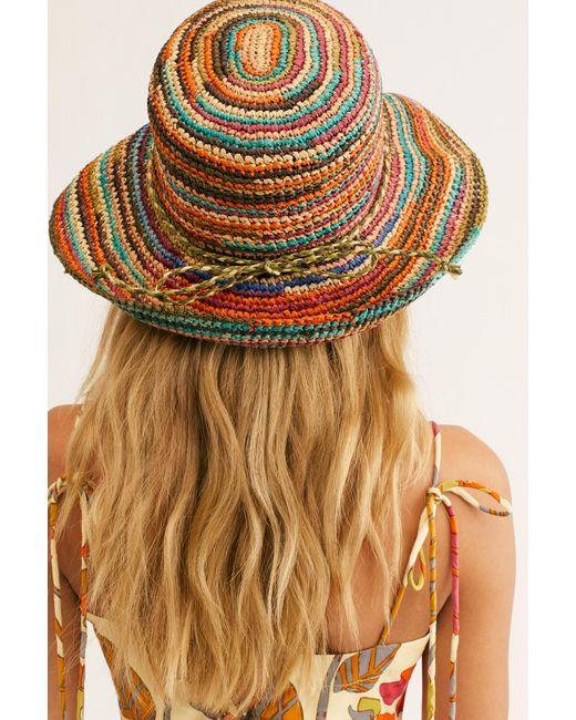 Free People - Multicolor Sweet Pea Straw Hat - Lyst